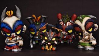 Sarukaku señores del inframundo, art toy, munny dunny